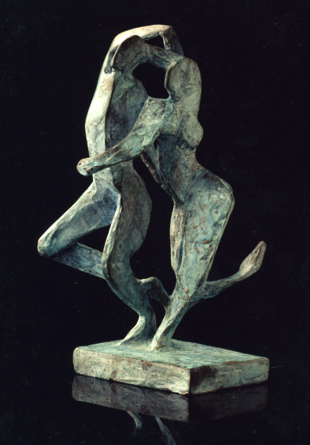 DANCING FIGURES . 20X11X10CM . BRONZE . SOLD
