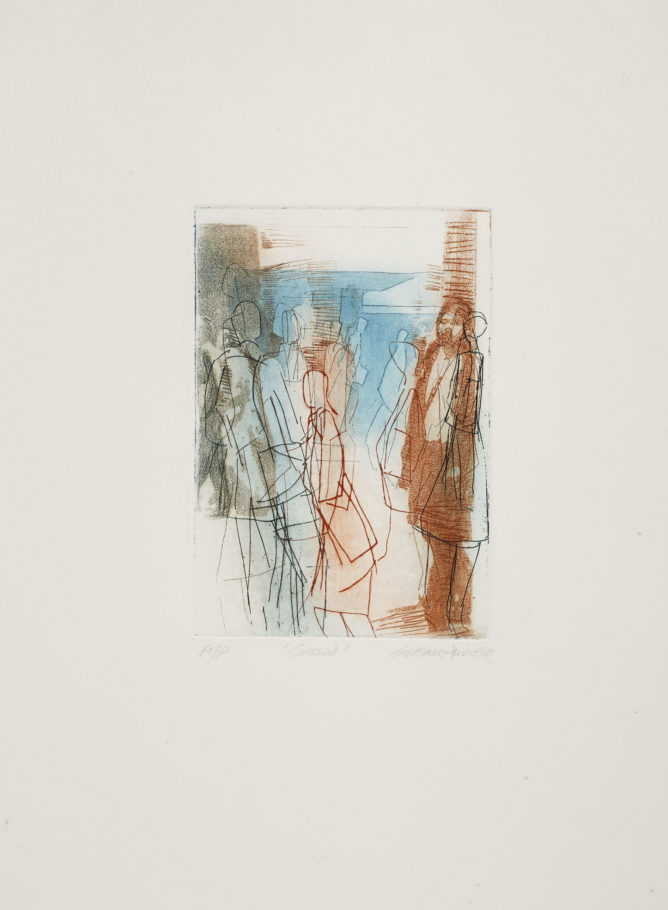 PASSING THROUGH 2 . IMAGE SIZE 16.5X11.5CM ETCHING . EDITION 25 . £135 U/F