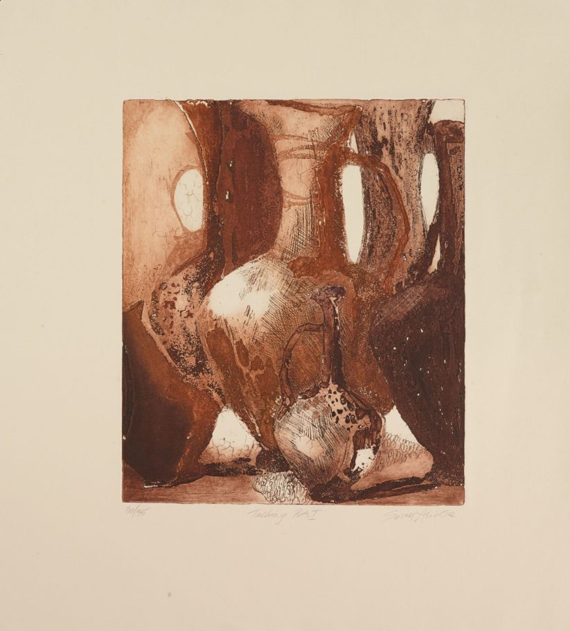TALKING POTS . IMAGE SIZES 30X50CM ETCHING . EDITION 35 . £400 U/F