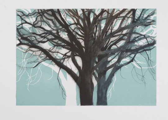 TREE FORMS BLUE 1