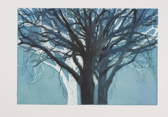 TREE FORMS BLUE 2