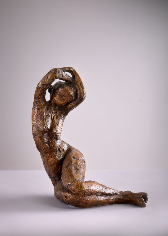 SEATED FIGURE . 37X28X28CM BRONZE . EDITION 6 . £3,500