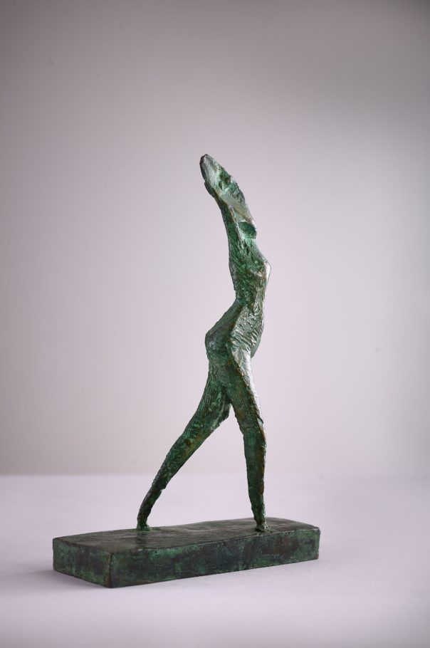 STRIDING FIGURE . 35.22X9CM BRONZE . EDITION 6 . £950