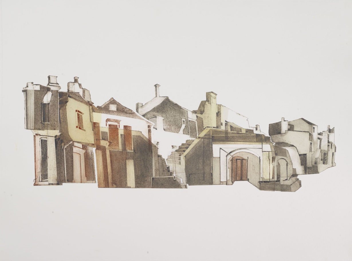 CISTERNINO . 24X69CM COLLAGRAPH . VARIED EDITION 6 . £600 U/F
