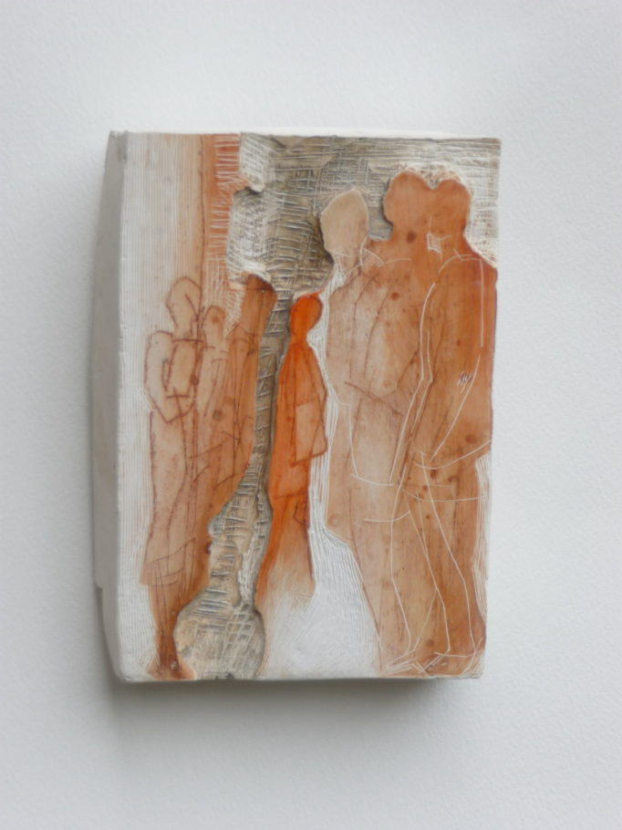 STANDING STILL . IMAGE SIZE 17X12X4CM PLASTER WALL RELIEF. VARIED EDITION 4 . £300