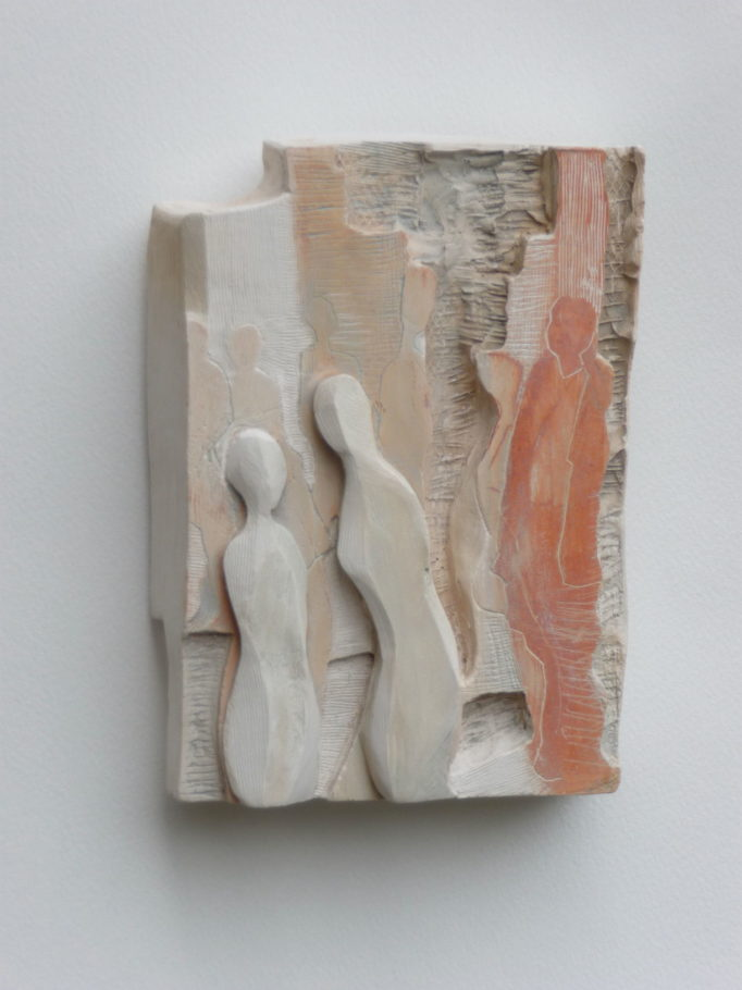 CONVERSATION . IMAGE SIZE 17X12X4CM PLASTER RELIEF . VARIED EDITION 4 . £300
