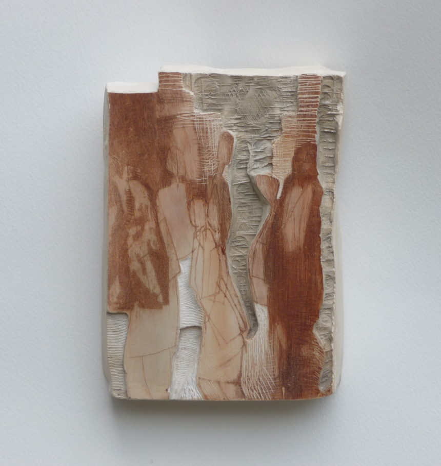 PASSING THROUGH . IMAGE SIZE 17X12X4CM PLASTER RELIEF . VARIED EDITION 4 . £300